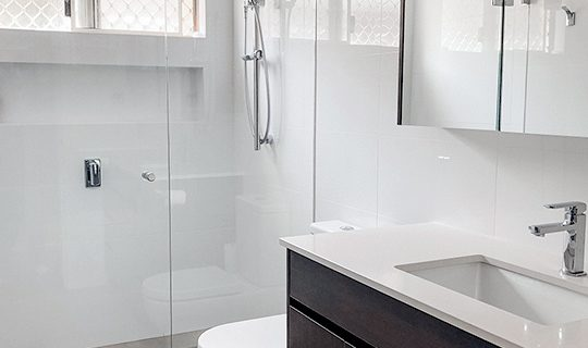 Stylish Accessible small Bathroom